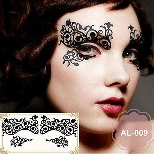 Party Augen Make-up Tattoo Spitze Aufkleber Halloween AL-009 Sticker Tattoo - - Augen Halloween Ein Make-up