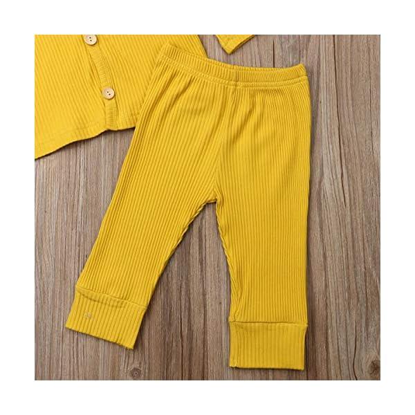 Conjunto de pijama de manga larga con botones y pantalones largos, de algodón de dos piezas 5
