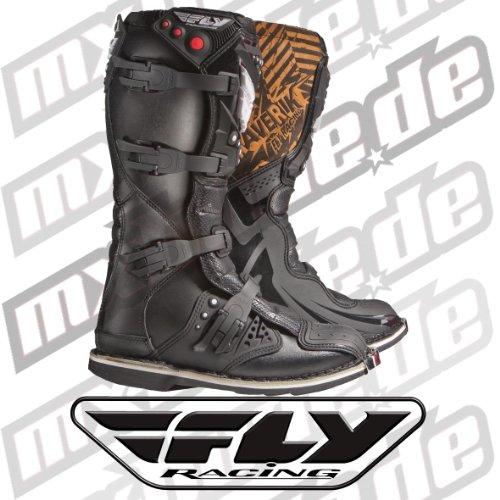 Fly Racing Kids Motocross-Stiefel Maverik Schwarz Gr. 38 -