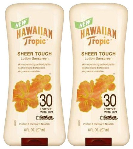 2x Hawaiian Tropic Sheer Touch Lotion SPF 30 - Sonnenschutz Lotion LSF 30 aus USA