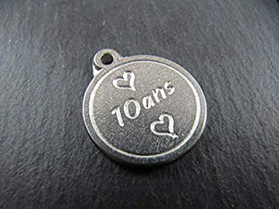 Médaille en étain 17mm - 10 ans