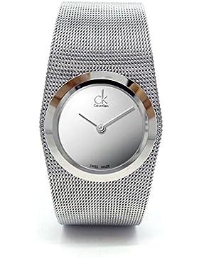 Calvin Klein Damen-Armbanduhr Analog Quarz Edelstahl K3T23128