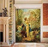 XHCP Stile Europeo Religione Angeli Adesivo murale Carta da Parati Soggiorno Ristorante Ingresso dell'hotel Decorazioni per pareti Carte da Parati Personalizzate