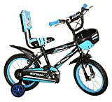 NY Bikes 14T Hitman Steel Kids Bicycle for 2 to 4 Years Kids (Black & Blue)