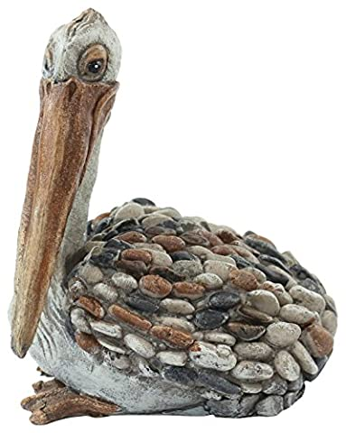 Alpine Corporation Garden Pebble Pelican Statue