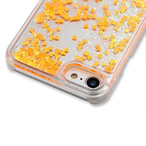 für iphone 5 iphone SE Hülle Hartplastik Transparent,SKYXD Handyhülle iphone 5S Glitzer Flüssig Bewegen Partikel Fließen Durchsichtig Klar Brillianter Kreativ Design mit [Handyanhänger + Eingabestifte Farbe #09