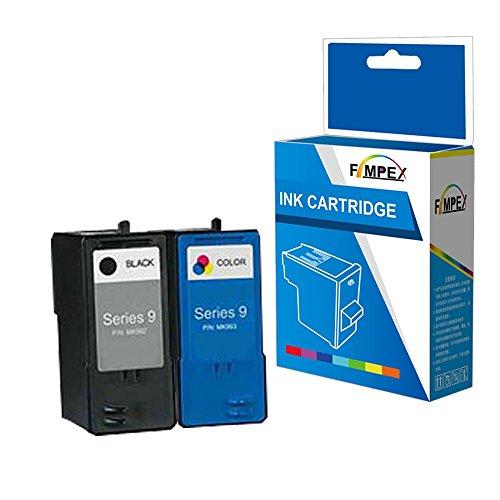 Fimpex Wiederaufbereitet Tinte Patrone Ersatz für Dell All In One 926 V305 V305W MK992H/MK993H (Schwarz/Tri-Colour, 2-Pack)