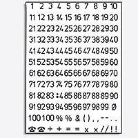Herma Numbers 5 MM 1–100 Weather transparent Black 2/4155