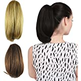 "DENIYA Short Straight Claw Clip Ponytail Hair Extensions And Hair Pieces For Women With Thinning Hair 10""(26cm)"