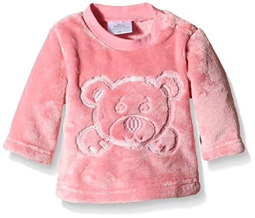 Twins Baby - Mädchen Fleecepullover mit Bärchen-Stickerei, Gr. 74, Rosa (Desert Rose 171927) Baby-fleece-sweatshirt