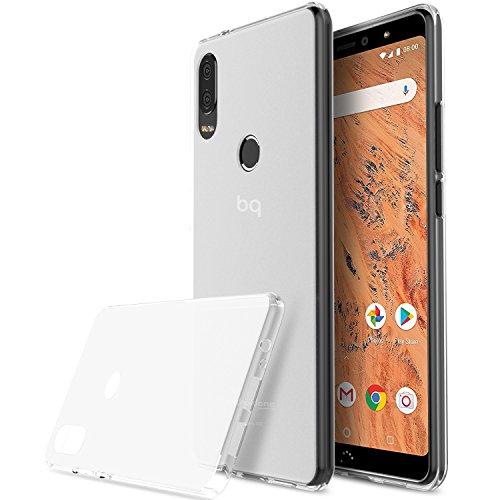 KuGi für BQ Aquaris X2, BQ Aquaris X2 Pro Hülle, Schutzhülle Soft TPU Case Ultradünn Cover [Slim-Fit] [Anti-Scratch] [Shock Absorption] für BQ Aquaris X2, BQ Aquaris X2 Pro Smartphone.Weiß