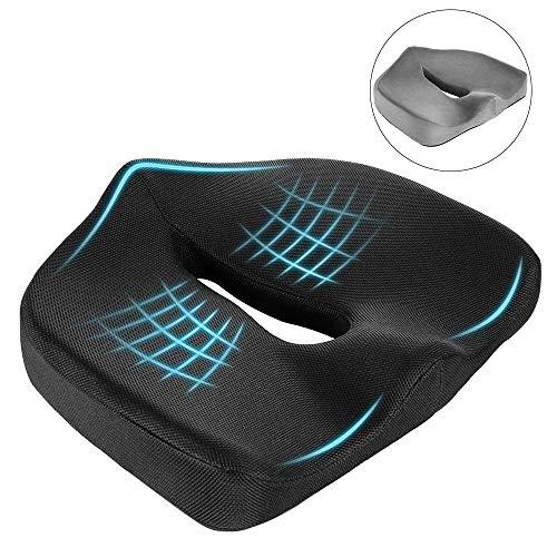 Newdora Sitzkissen Memory Schaum atmungsaktivem aus mit ergonomischem Design, ideal für Reisen, Auto, Büro(Abdeckung * 2 inklusive)