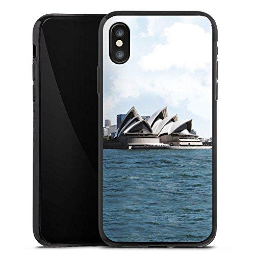 Apple iPhone X Silikon Hülle Case Schutzhülle Sydney Australien Opera House Silikon Case schwarz