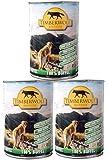 TimberWolf Hundefutter, 3X 410g Dose, 100% Büffel, frei von Zusatzstoffen, Getreidefrei, Glutenfrei, aus frischem Fleisch, Nassfutter (kg 5,36 €)