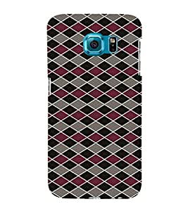 iFasho Animated Pattern of Chevron Arrows royal style Back Case Cover for Samsung Galaxy S6 Edge