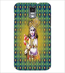 PrintDhaba Lord Krishna D-2665 Back Case Cover for SAMSUNG GALAXY S5 (Multi-Coloured)
