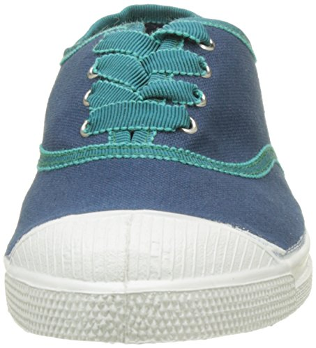 Bensimon Tennis Lacet Gros Grain, Baskets Basses Femme Bleu (Bleu)