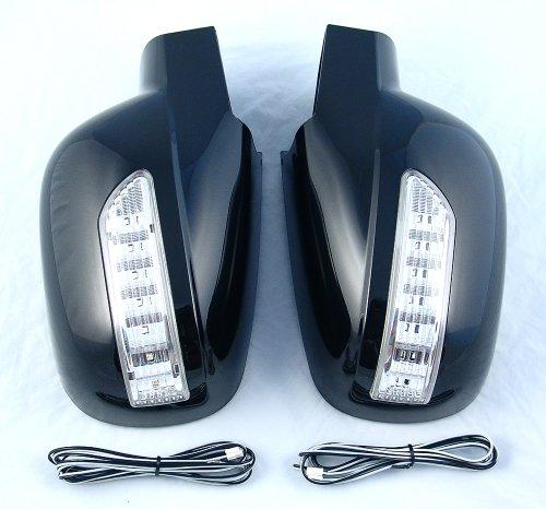 Rexton I/II Boîtier Boîtier de miroir avec clignotant LED gauche droite Couleur Noir Lak