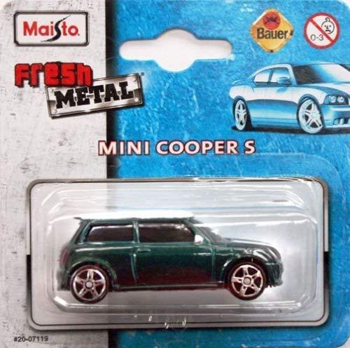 MAISTO Mini Cooper S - 1:64 - Farbe: dunkelgrün (Modell Im Cooper Maßstab Mini)