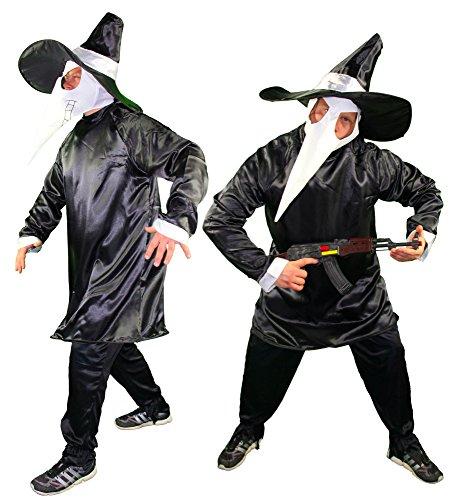 Foxxeo Ratten Gangster Halloween Kostüm mit Maske für Herren – M-XL, Größe:M