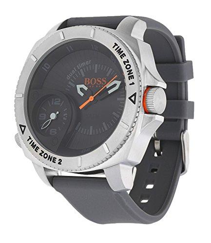 f13919deb376 Boss Orange Sao Paulo – Reloj de pulsera para hombre Dual Time Analógico de Cuarzo  Silicona