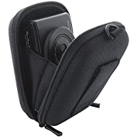 Smart- Planet Bolsa para cámara 395.723 incl. correa de mano y carabina -z.B. Nikon Coolpix 165 170 / Sony Cyber-shot DSC-Wx350 RX1R II etc cámara compacta / cámara compacta - caso de Shell duro Negro