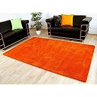 palace tapis shaggy poils longs orange 17 tailles disponibles - Tapis Orange