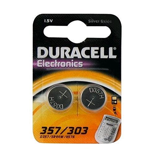 Duracell Specialty - Pila de óxido de plata 357, 303 / 2 unidades
