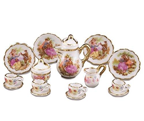 Reutter Porzellan Miniaturen - Verschiedene Service im Maßstab 1:12 für Puppenstuben - Speise-...