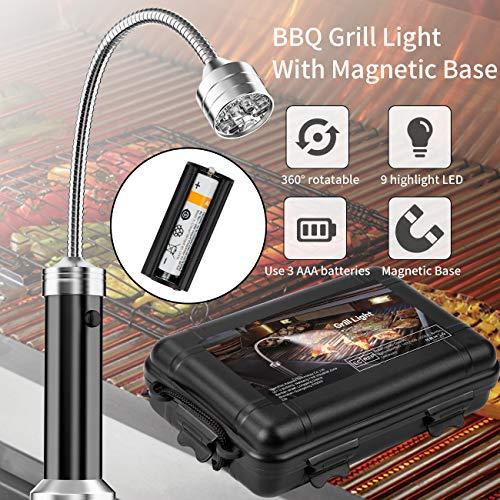 51WT u9tJhL - MojiDecor Grill Licht, Magnetische Grilllampe BBQ Licht Set Outdoor Grill Lichter BBQ Zubehör, Batteriebetrieben, 360 Grad Drehwinkel (2 Pack, Schwarz)