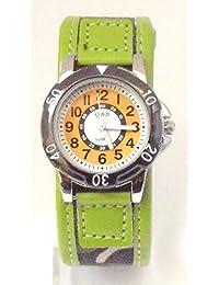 QBD Boys Army Watch -Camoflague Strap - Easy Read Time Teacher Face