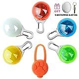 Beslove Sicherheits Clip-on LED Licht, 6Pcs Leuchtanhänger Schlüsselanhänger Wasserdicht 3 Blinkmodis (inkl. 12pcs Batterien) für Läufer, Jogger, Walker, Fahrradfahrer,Tiere Wie Hunde
