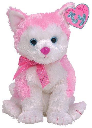 Ty Bonita Beanie Husky Plueschtier weiss rosa 17 cm