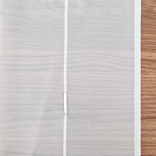 1er-Pack Raffrollo mit Schlaufen Gardinen Voile Transparent Vorhang (BxH 140x155cm, weiß) - 5