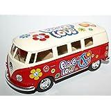 """'VW Bus T11962–""""Frieden und Liebe mit Motor Pullback"""