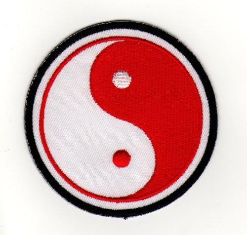 Aufnäher Bügelbild Aufbügler Iron on Patches Applikation Yin Yang Kampfsport Zeichen