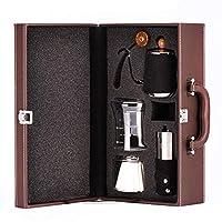 طقم ماكينة تحضير القهوة يتضمن طقم مطحنة قهوة ورقية بفلتر كوب
