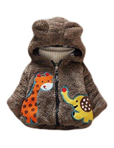 Baby-Mdchen-Mntel-Kapuze-Jacken-fr-Kinder-Giraffe-Elefant-Winter-Steppjacke-mit-Ohren-0-3-Jahre