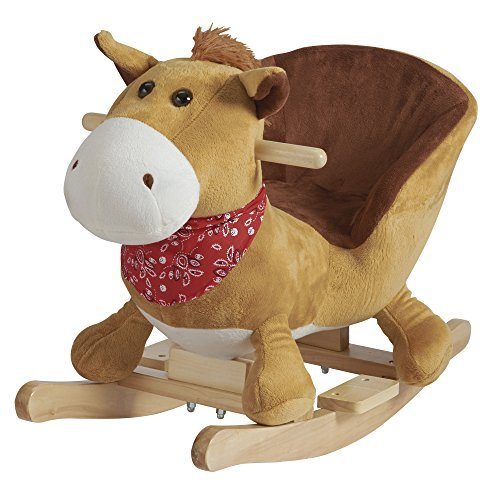 My Play Animal Rocker Chair For Baby, Kids, Toddler, Children With Plush Seat (Horse)