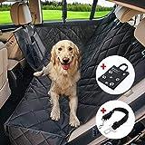 Wasserdichte Hunde Autoschondecke mit Seitenschutz & Reißverschlüsse & Taschen, Universalgröße 150x137 CM, Kratzfest, Rutschfeste Hundedecke mit Sicherheitsgurt und Handtashce für Auto / Van / SUV