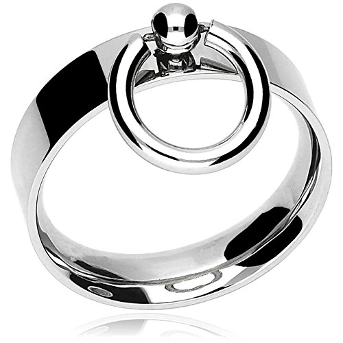 """Anello in acciaio inox con """"O"""" piccola, gioielli fetish BDSM, 15–23mm, acciaio inossidabile, 50 (15.9), cod. 2028"""