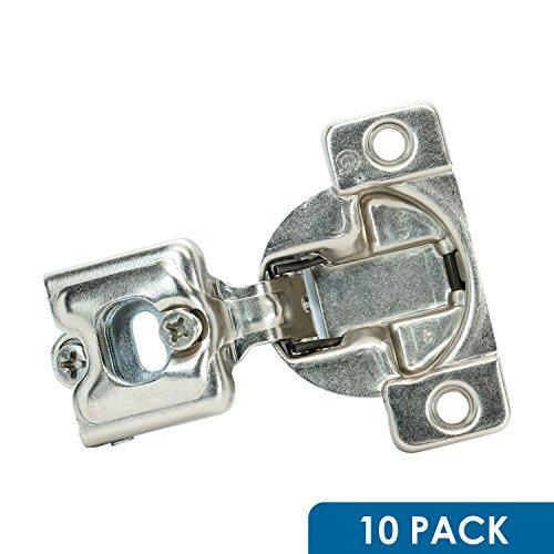Gras Cabinet Hardware (10Stück ROK Hardware Gras Tec 864108Grad 3/10,2cm Overlay selbst Schließen Schraube auf Compact Schrank Scharnier 04400-153-Wege-Anpassung 45mm langweilig Muster)