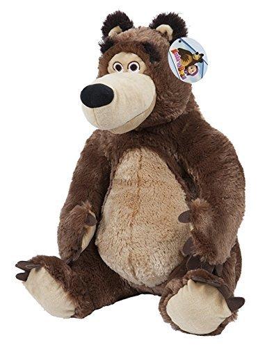 MASHA Y EL OSO - Peluche personaje 'El Oso' (sentado 23cm) de la película 'Masha y el oso' - Calidad Super Soft