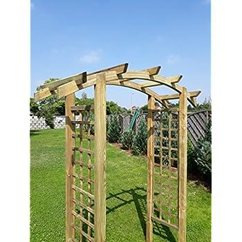 Naturholz Shop Eingangspergola 180x60x210 Cm Pergola Aus Holz Mit