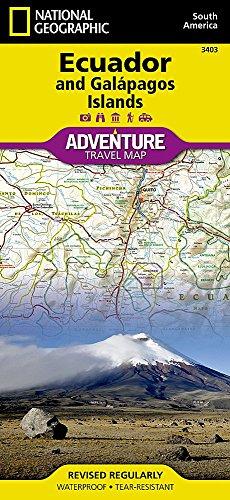 Ecuador and Galapagos Island : 1/750 000 (Adventure map)