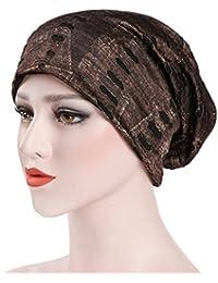 5d5b000913e Dinglong Grosses Soldes Femmes Casual Chapeaux Inde Musulman Stretch Retro  Imprimer Turban Chapeau ÉCharpe Wrap Cap