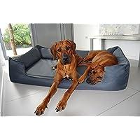 [Gesponsert]tierlando® Orthopädisches Hundebett GOOFY VISCO fest gewebtes Polyester M L XL XXL XXXL   90 - 185 cm   (G5   130 x 100 cm, 02   Graphit)