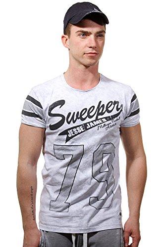 R-NEAL T-Shirt Rundhals slim fit Grau