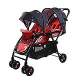 Kaysa-TS Doppelkinderwagen, leicht faltend einfach zu tragen stoßfest doppelten Kinderwagen, Baby Travel System tragen 50kg,