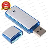 TRP TRADERS 4GB Voice Recorder USB Flash Drive (Black)